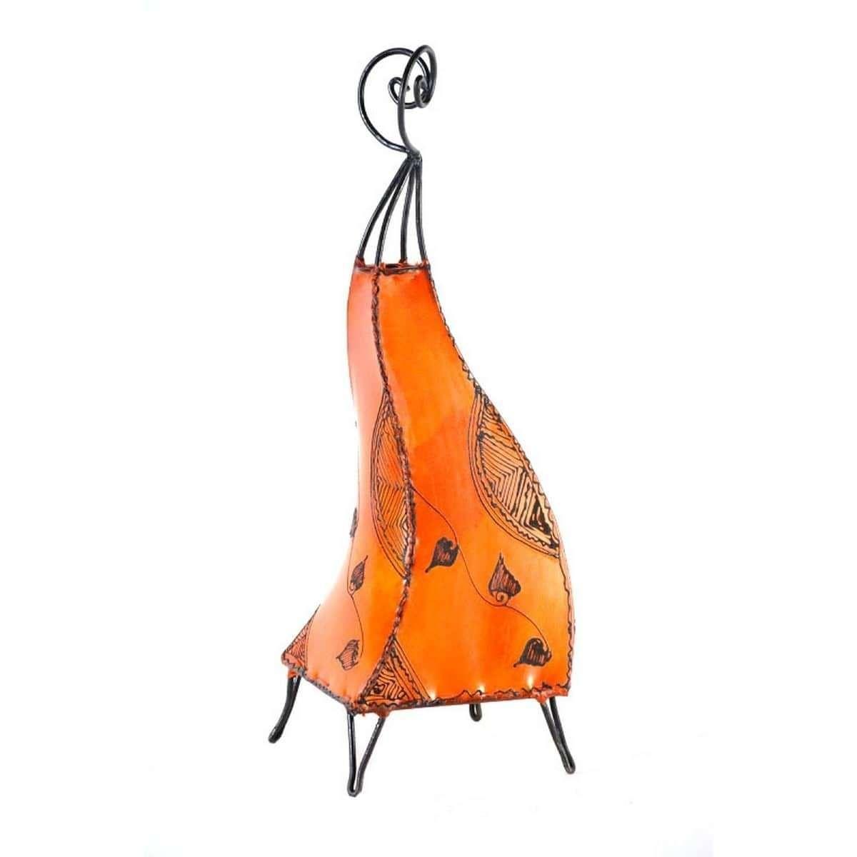 orientalische marokkanische stehlampe leder lampe hennalampe lederleuchte marrak ebay. Black Bedroom Furniture Sets. Home Design Ideas