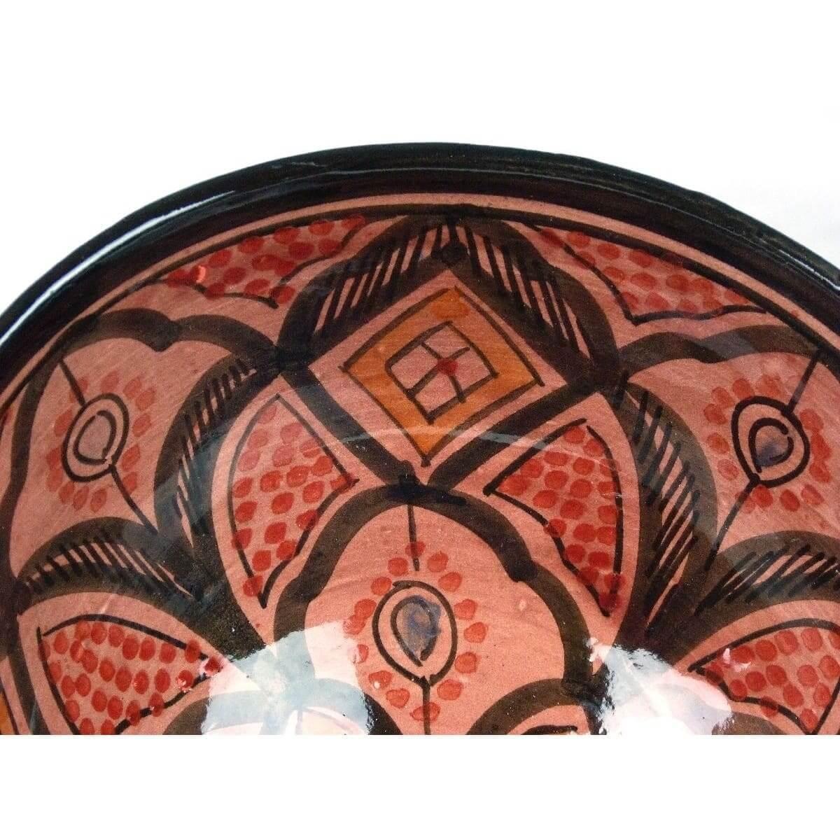 orientalische marokkanische keramikschale keramik obst salat reis schale gro ebay. Black Bedroom Furniture Sets. Home Design Ideas