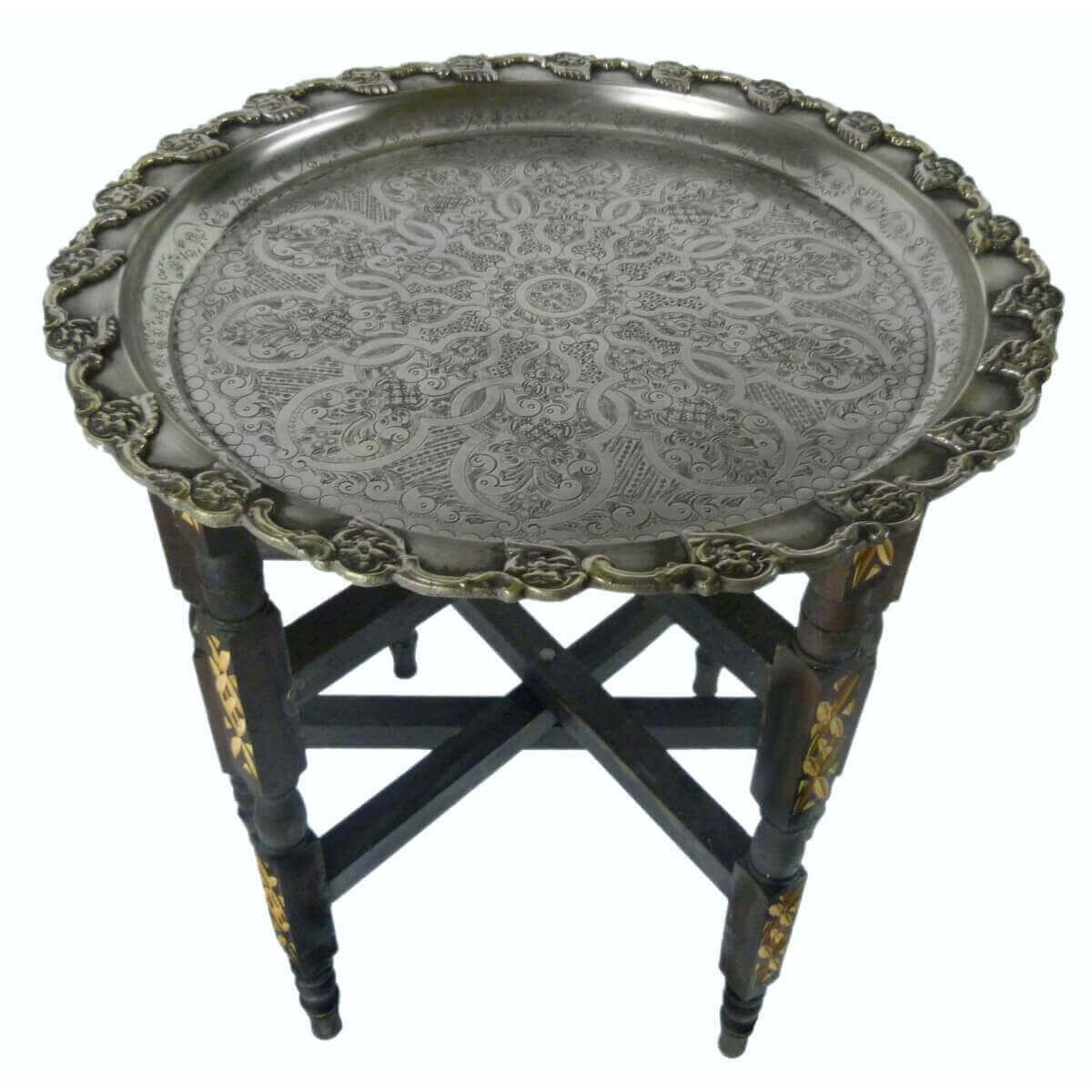 oriental plateau th table d 39 appoint pliante marocain basse ebay. Black Bedroom Furniture Sets. Home Design Ideas