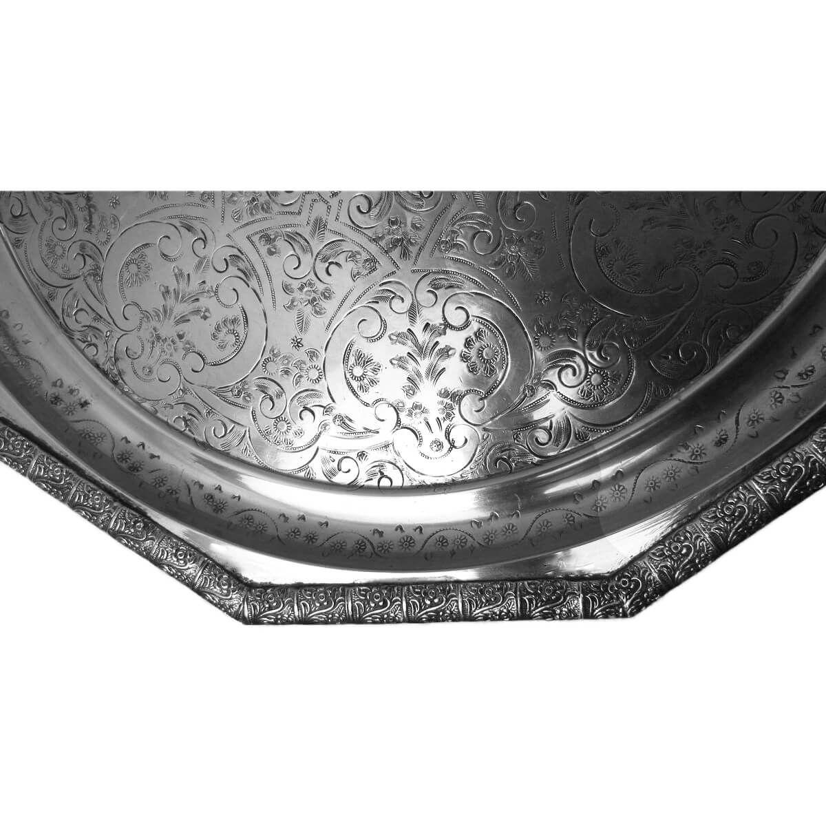 orientalisches marokkanisches tablett serviertablett tee silber unikat 64cm ebay. Black Bedroom Furniture Sets. Home Design Ideas