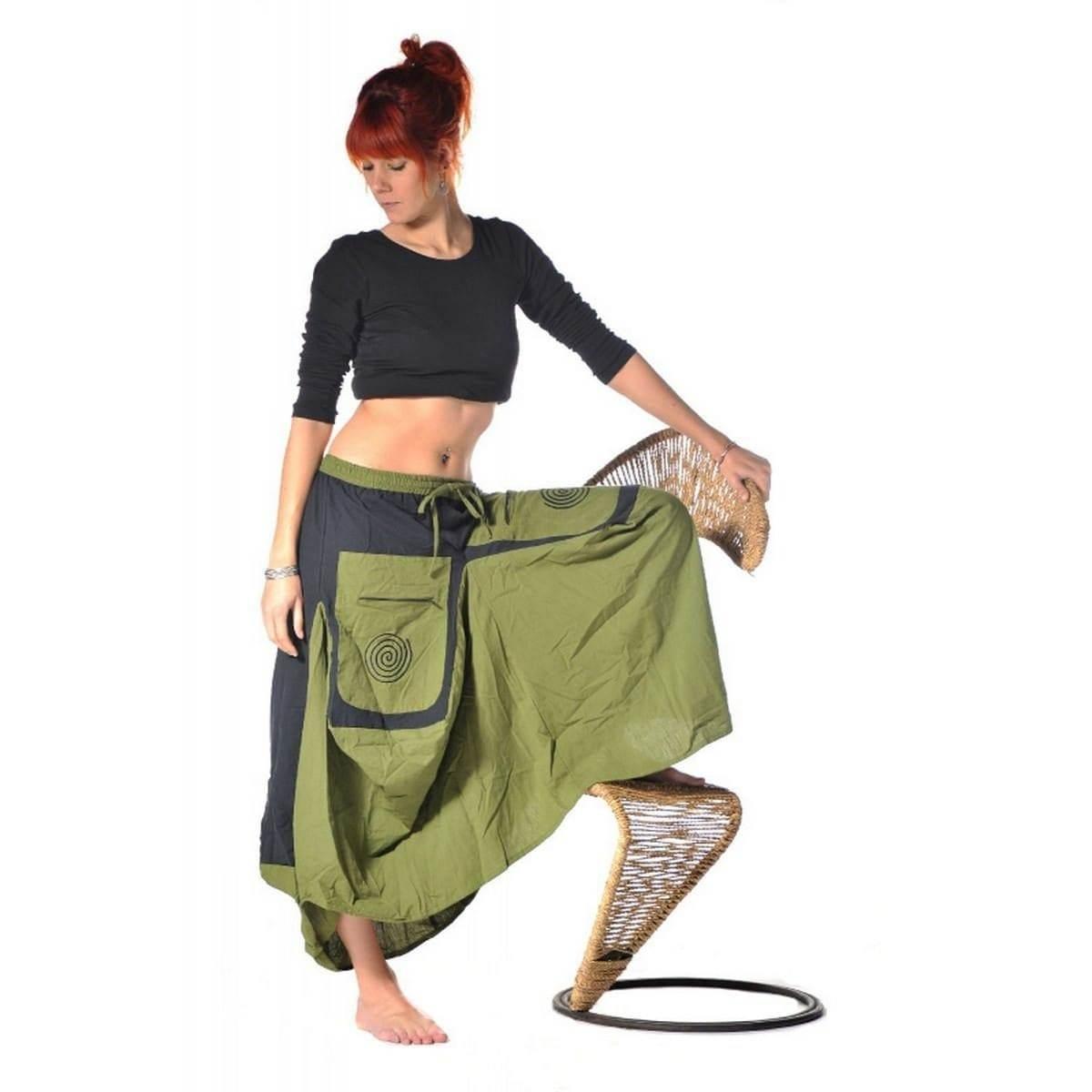 details zu rock mittelalter maxirock hippie goa psy sommerrock unterrock  gummizug jupe