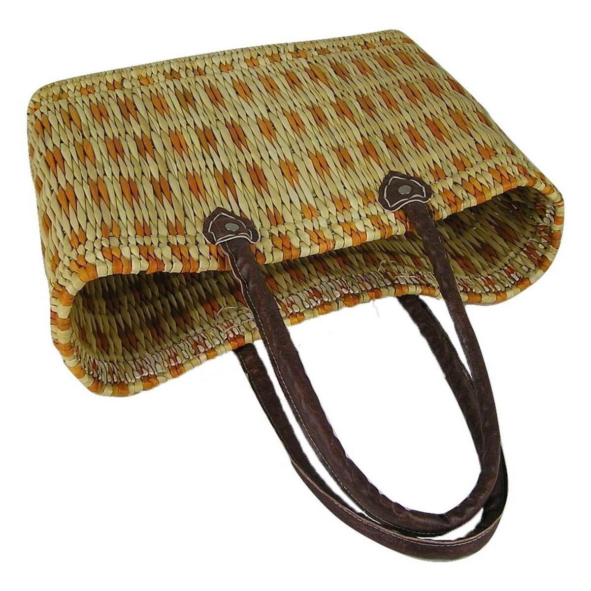 seegras tasche korb einkaufstasche einkaufskorb flechtkorb korbtasche mittel l ebay. Black Bedroom Furniture Sets. Home Design Ideas