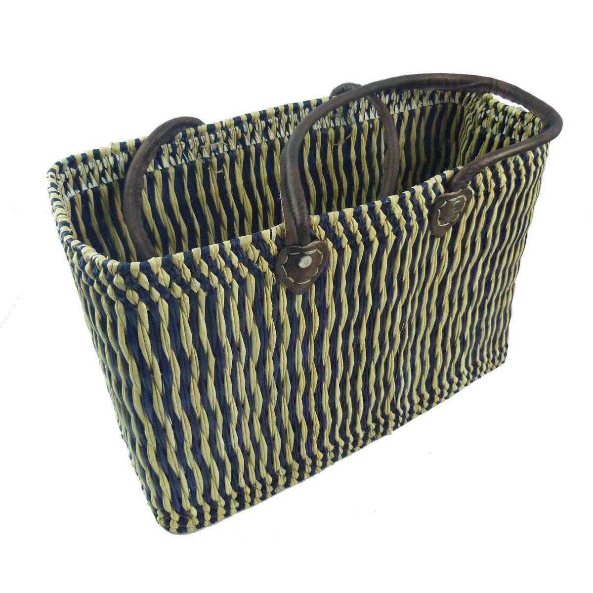seegras tasche korb einkaufstasche einkaufskorb flechtkorb korbtasche klein l ebay. Black Bedroom Furniture Sets. Home Design Ideas