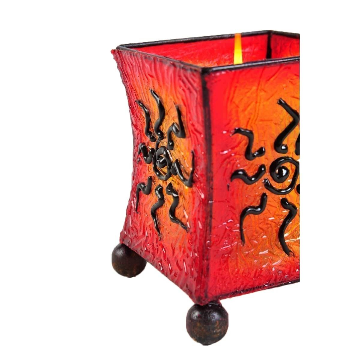 windlicht teelicht teelichthalter kerzenhalter deko resin bali asia fieber eckig ebay. Black Bedroom Furniture Sets. Home Design Ideas