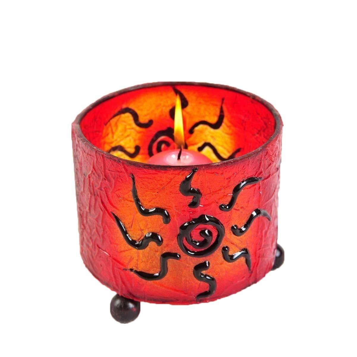 windlicht teelicht teelichthalter kerzenhalter deko resin bali asia fieber rund ebay. Black Bedroom Furniture Sets. Home Design Ideas