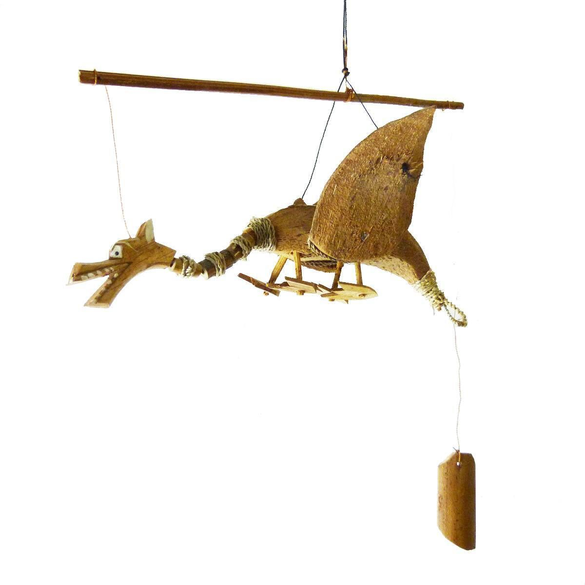 wind chime bamboo coconut wood handmade garten decoration door bell dragon ebay. Black Bedroom Furniture Sets. Home Design Ideas